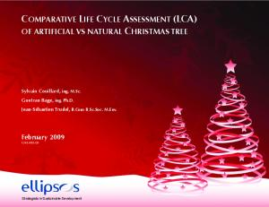 COMPARATIVE LIFE CYCLE ASSESSMENT (LCA)