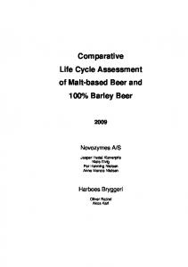 Comparative Life Cycle Assessment of Malt-based Beer and 100% Barley Beer