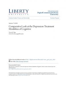 Comparative Look at the Depression Treatment Modalities of Cognitive