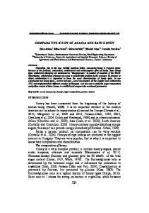 COMPARATIVE STUDY OF ACACIA AND RAPE HONEY