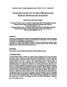 COMPARATIVE STUDY OF DATA WAREHOUSE DESIGN APPROACHES: A SURVEY