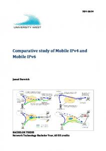 Comparative study of Mobile IPv4 and Mobile IPv6