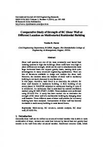 Comparative Study of Strength of RC Shear Wall at Different Location on Multi-storied Residential Building