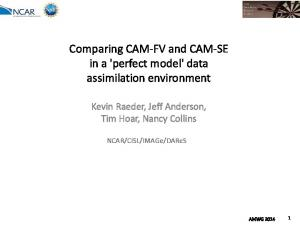 Comparing CAM-FV and CAM-SE in a 'perfect model' data assimilation environment