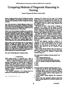 Comparing Methods of Diagnostic Reasoning in Nursing