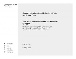Comparing the Investment Behavior of Public and Private Firms