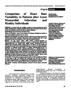 Comparison of Heart Rate Variability in Patients after Acute myocardial Infarction and healthy individuals