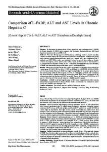 Comparison of L-FABP, ALT and AST Levels in Chronic Hepatitis C