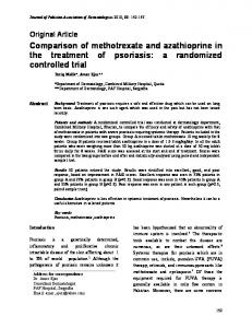 Comparison of methotrexate and azathioprine in the treatment of psoriasis: a randomized controlled trial