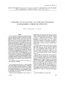 COMPARISON OF MYELOGRAPHY AND COMPUTED TOMOGRAPHY IN ESTABLISHING LUMBAR DISC HERNIATION