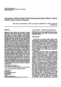 Comparison of Radial Versus Focused Extracorporeal Shock Waves in Plantar Fasciitis Using Functional Measures