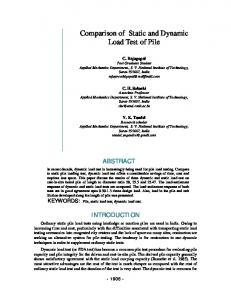 Comparison of Static and Dynamic Load Test of Pile