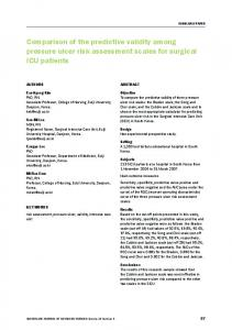 Comparison of the predictive validity among pressure ulcer risk assessment scales for surgical ICU patients