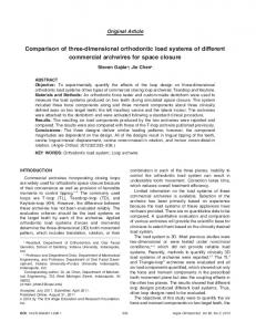 Comparison of three-dimensional orthodontic load systems of different commercial archwires for space closure