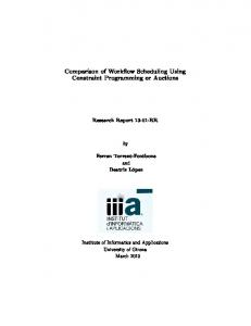 Comparison of Workow Scheduling Using Constraint Programming or Auctions