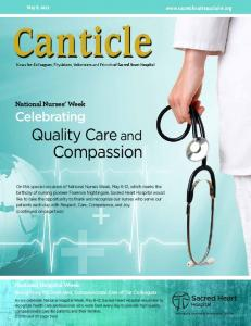 Compassion. Quality Care and. Celebrating. National Nurses Week. National Hospital Week