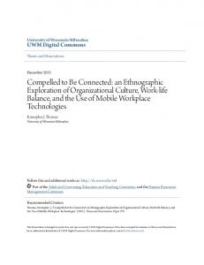 Compelled to Be Connected: an Ethnographic Exploration of Organizational Culture, Work-life Balance, and the Use of Mobile Workplace Technologies