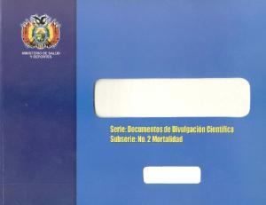 COMPENDIO DE ESTADISTICAS DE DEFUNCION DE BOLIVIA