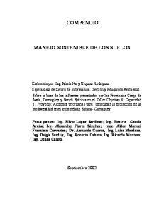 COMPENDIO MANEJO SOSTENIBLE DE LOS SUELOS