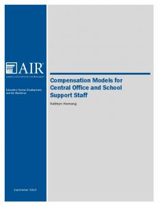 Compensation Models for Central Office and School Support Staff