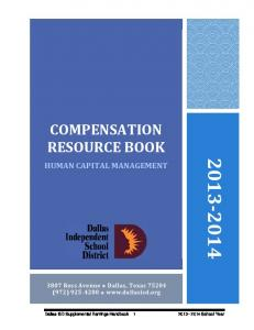 COMPENSATION RESOURCE BOOK