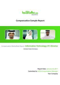 Compensation Sample Report