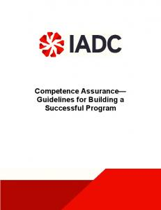 Competence Assurance Guidelines for Building a Successful Program