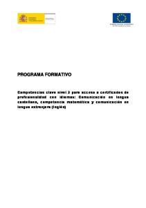 COMPETENCIA EN LENGUA CASTELLANA
