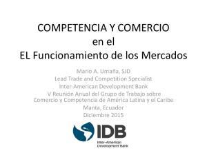 COMPETENCIA Y COMERCIO en el EL Funcionamiento de los Mercados