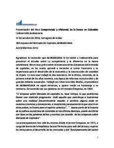 Competencia y eficiencia de la banca en Colombia