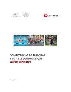 COMPETENCIAS DE PERSONAS Y PERFILES OCUPACIONALES SECTOR DEPORTIVO