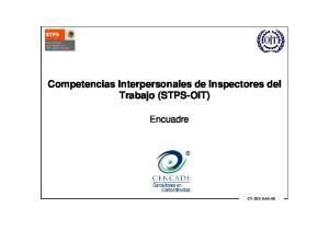 Competencias Interpersonales de Inspectores del Trabajo (STPS-OIT)