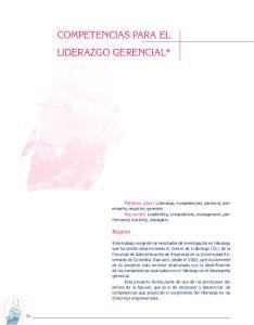 COMPETENCIAS PARA EL LIDERAZGO GERENCIAL*