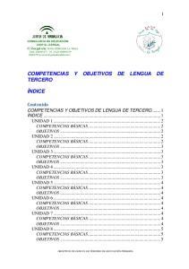 COMPETENCIAS Y OBJETIVOS DE LENGUA DE TERCERO