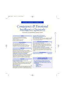 Competency & Emotional Intelligence Quarterly