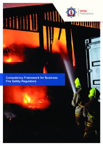 Competency Framework for Business Fire Safety Regulators