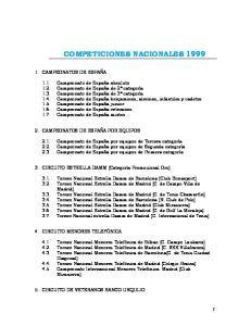 COMPETICIONES NACIONALES 1999
