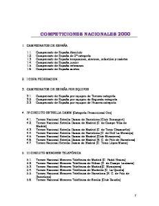 COMPETICIONES NACIONALES 2000