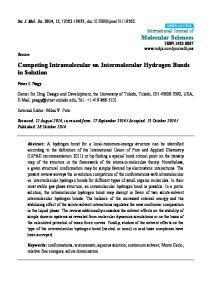 Competing Intramolecular vs. Intermolecular Hydrogen Bonds in Solution