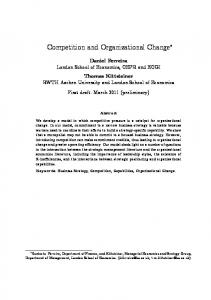 Competition and Organizational Change