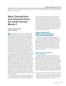 Competition between banks and credit unions