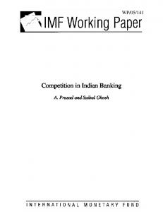 Competition in Indian Banking