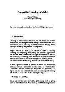 Competitive Learning: A Model