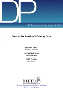 Competitive Search with Moving Costs