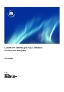 Competitive Tendering of Public Transport