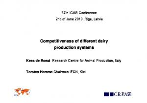 Competitiveness of different dairy production systems