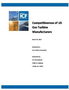 Competitiveness of US Gas Turbine Manufacturers