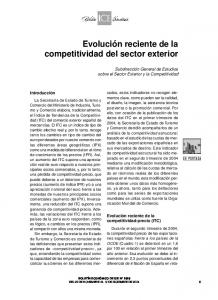 competitividad del sector exterior