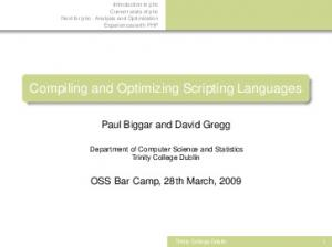 Compiling and Optimizing Scripting Languages