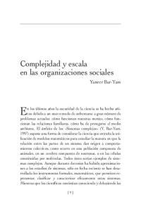 Complejidad y escala en las organizaciones sociales